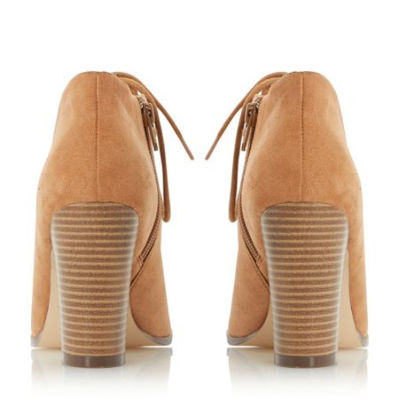 Head Over Heels Morven lace up peep toe shoes