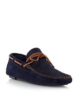 Beachcomber weave print driver loafer