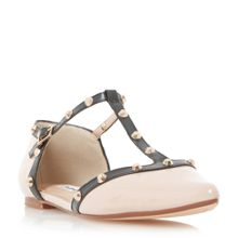 Dune Heti stud pointed flat shoes