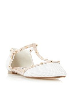 Heti stud flat ballerina shoes