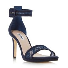 Dune Maisi lace two part high heel sandals