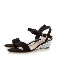 Dune Monaa jewelled wedge sandals