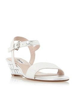 Monaa jewelled wedge sandals