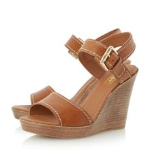 Dune Kamella stab stitch wedge shoes