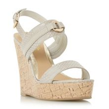 Head Over Heels Kaylee branded espadrilles wedges