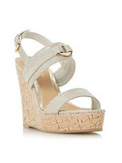 Kaylee two part cork wedge sandals