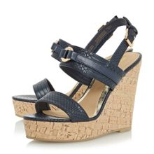 Head Over Heels Kaylee two part cork wedge sandals