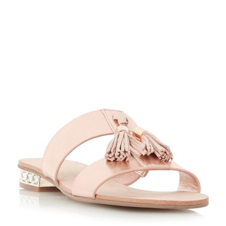 Dune Newberry tassel detail heel sandals