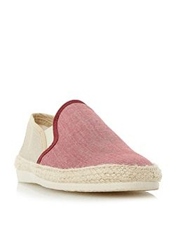 Fondant chambray espadrille shoes