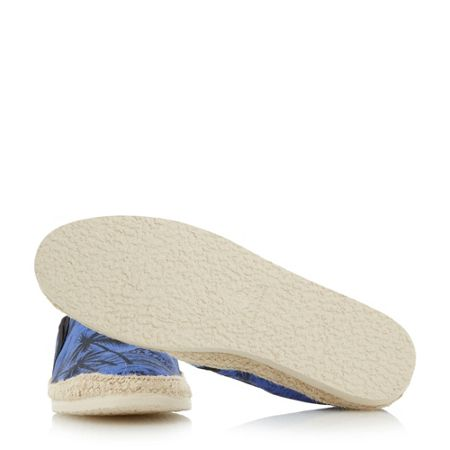 Bertie Fancy palm print espadrilles