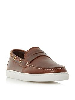 Bourbon cupsole penny boat shoes