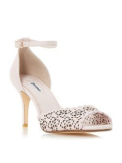 Mylene laser cut peep toe sandals