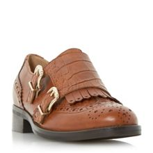 Dune Fiona fringle double monk shoes