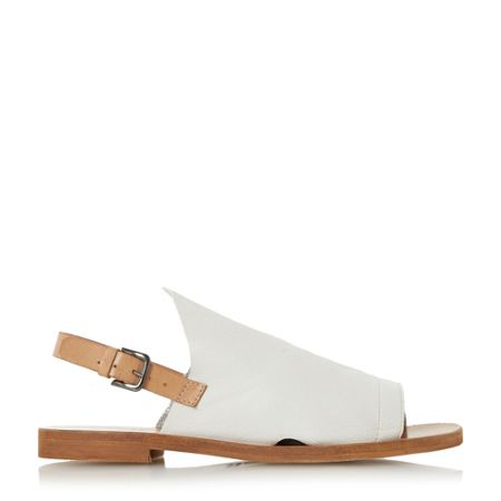 Dune Black Lilymay high vamp flat sandals