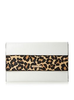Elvina contrast foldover clutch bag