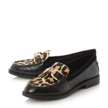 Dune Genre snaffle trim loafers