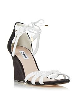 Madge ghillie lace wedge sandals