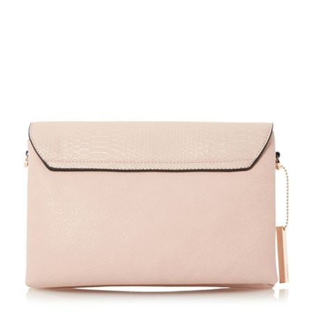 Dune Emory foldover compartment clutch bag