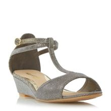 Head Over Heels Marsella t-bar mini wedge sandals