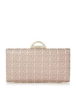 Beeny laser cut frame detail clutch bag