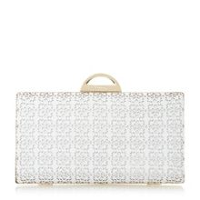 Dune Beeny laser cut frame detail clutch bag