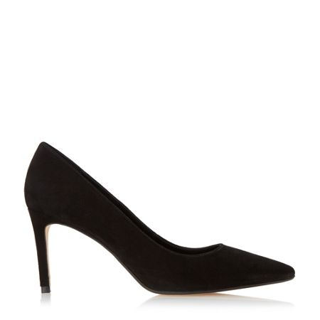 Dune Abbigal pointed toe mid heel court shoes
