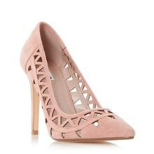 Dune Billey pointed toe cut out court shoes