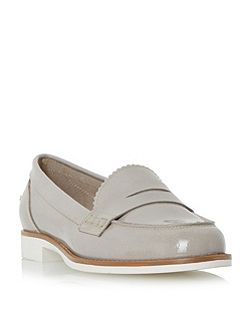 Gleam white sole penny loafers