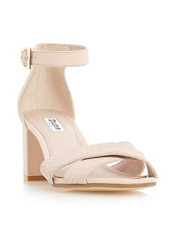 Imelda cross over strap mid heel sandals