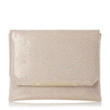 Dune Bubbles metallic clutch bag