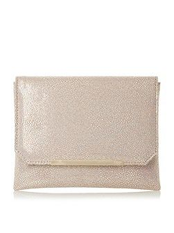 Bubbles metallic clutch bag