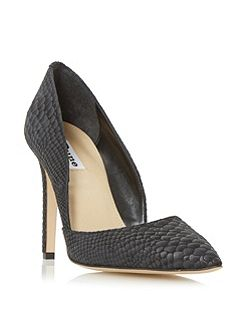 Alia two part pointed court shoes