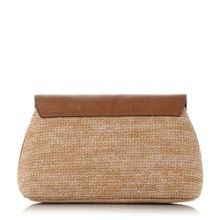 Dune Eugenie envelope raffia clutch bag