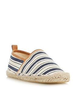 Glyde striped closed espadrille shoes