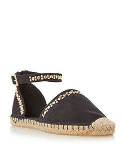 Giggy studded two part espadrille shoes