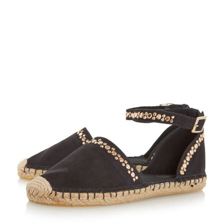 Head Over Heels Giggy studded two part espadrille shoes