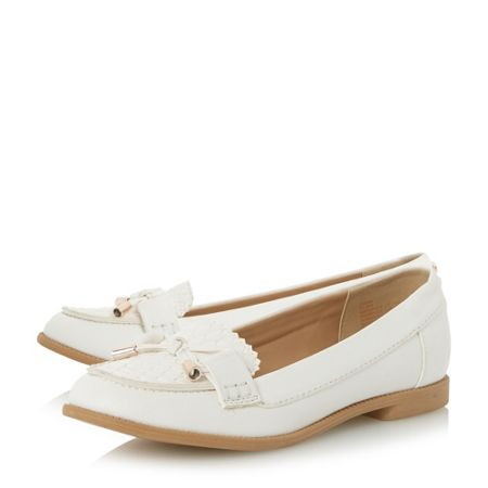 Head Over Heels Gemm bow trim woven loafers