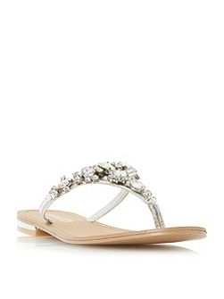 Navada embellished toe post flat sandal