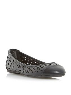 Hadlow laser cut detail ballerina shoes