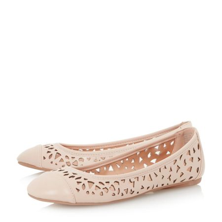 Linea Hadlow laser cut detail ballerina shoes