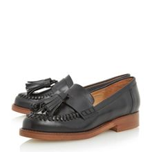 Dune Gallarie whipstitch tassel loafers