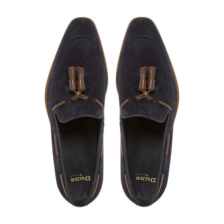 Dune Black Rivers double tassel leather loafer