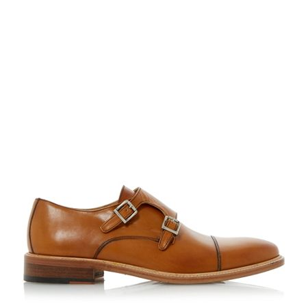 Dune Black Rushmore monk shoes