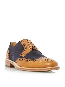 Dune Black Sunray mixed material brogues