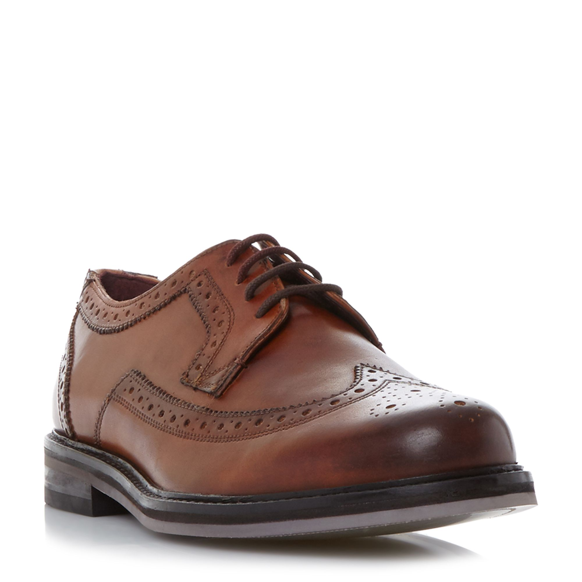 Ted Baker Ttanum 3 punched brogue shoes Tan