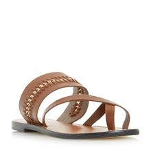 Dune Laken chain detail flat sandals