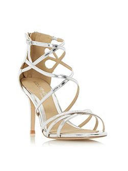 Minita metallic strap high heel sandals