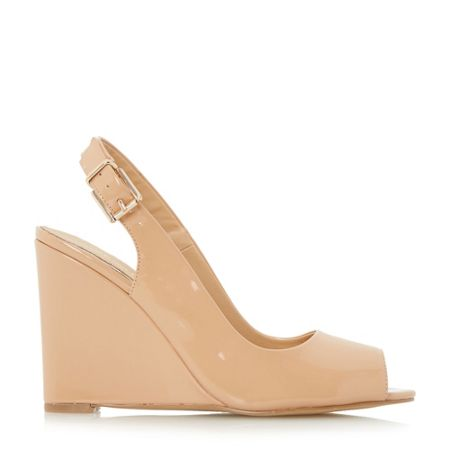 Head Over Heels Keeki peep toe slingback wedge sandal