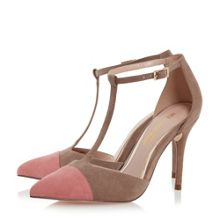 Head Over Heels Charon t-bar colour block court shoes