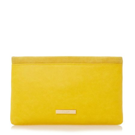 Dune Epommy pom pom flap over clutch bag
